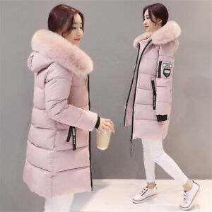 Womens Ladies Winter Chunky Hooded Puffer Bubble Parka Coats Jackets Outerwear