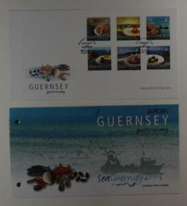 2005 GUERNSEY PRESENTATION PACK & 1 FDC GASTRONOMY LOT 370*