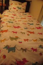 """The Company Store 100% Cotton Weiner Dog 2 Cases TWIN XL Duvet Cover 68"""" X 100"""""""