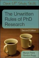 USED (GD) The Unwritten Rules of PhD Research (Open Up Study Skills) by Marian P