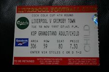 Liverpool v GrimsbyTown 1997 League Cup Ticket