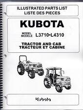 Kubota L3710 L4310Tractor Illustrated Parts Manual 97898-22011