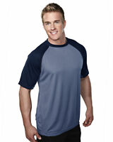 Tri-Mountain Men's New Polyester Crewneck Short Sleeve Best T-Shirt. 234