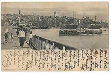 Turkey 1900 Constantinople Pera Galata  postcard to Ragusa c.44
