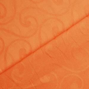 Damast apricot - orange-edle Ware in Gastronomiequalität+fester Webkante-per lfm