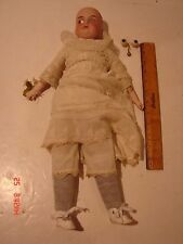 VINTAGE 19 INCH DOLL BISQUE HEAD A & M 370 GERMAN ARMAND MARSEILLE CLOTH BODY