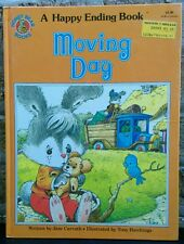 Vintage 1983 Happy Ending MOVING DAY Honey Bear hardcover children's kid's book