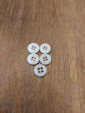 5 Vintage BUTTONS Small Chinas Porcelain Glass Tiny Antique BUTTON Lot 4-Hole