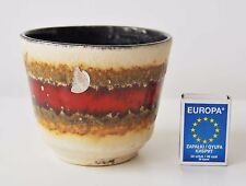 West German pottery planter flower pot U Keramik fat lava mid century Vintage