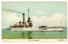 Military Ship -MONITOR U.S.S. FLORIDA- Enrique Muller Postcard Navy/USS