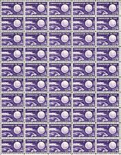 "1960 - ECHO I - FIRST ""SPACE"" POSTAGE STAMP #1173 Full Mint Sheet of 50 Stamps"