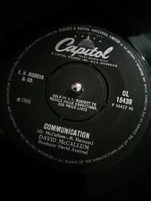 "David McCallum ‎– Communication Vinyl 7"" Single UK CL 15439 1966"