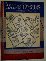 Transfers Pattern Aunt Marthas Vtg Embroidery Needlepoint 9475 Mexican Tea Towel