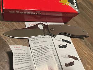 New Spyderco Stretch Brown G-10 ZDP-189 Seki Japan Lockback EDC Folding knife