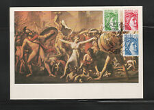 carte  1er jour   Sabine 1,40 vert 1,60 rouge 2,30 bleu    1981