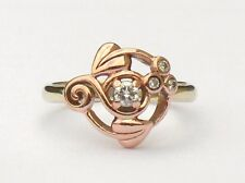 Clogau Welsh 9ct Gold Yellow & Rose Gold Tree Of Life Origin Diamond Ring  M 1/2
