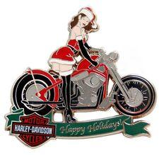HARLEY DAVIDSON SANTA BABY HAPPY HOLIDAYS CHRISTMAS SEXY LADY MOTORCYCLE  PIN