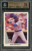 1990 Leaf Baseball | Gary Sheffield ROOKIE RC Card # 157 | BGS 10 PRISTINE 1/1