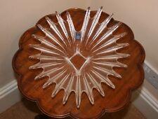 """Fabulous Dartington Crystal Palm plat. Les premières années 1980. 11"""" X 5"""". SUPERBE"""