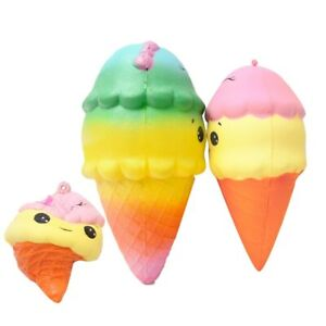 Colorful Ice Cream Squishy Rising Soft Creative Squeeze Toys Stress Relief Toys