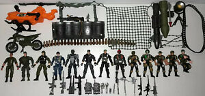 Military Army Action Figures/Motorbike/Helicopter/Weapons & Accessories Joblot