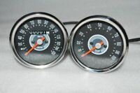 BSA NORTON TRIUMPH SMITH REPLICA SPEEDOMETER TACHOMETER PAIR 150 MPH GREY