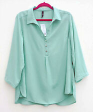 Evans Blouse Polyester Collared Tops & Shirts for Women