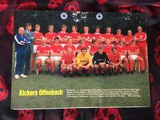 Poster mit 11 Autogrammen KICKERS OFFENBACH 70/71-W.Schäfer-Fans/Geschenk-79/17
