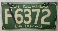 Vintage Bahamas Out Island License Plate F6372 Freeport Grand Bahamas 1960's