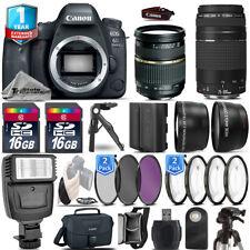 Canon 6D Mark II Camera + 28-75mm 2.8 + 75-300 + EXT BAT + 32GB + 1yr Warranty