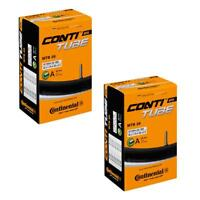 2 x Continental MTB 26 Mountain Bike inner tube Schrader Valve 1.75 to 2.5