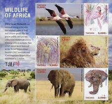 Tanzania 2017 MNH Wildlife of Africa Tjili 6v M/S Lions Elephants Birds Stamps
