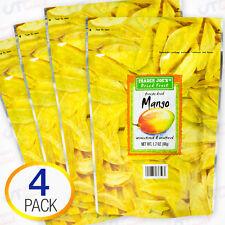4-Pack Trader Joe's Freeze Dried Mango Fruit Unsweetened Unsulfured Snack 1.7 oz