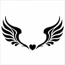 Reusable airbrush tattoo stencils templates  - Angel wings  (Medium size)