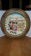 1976 Anri Christmas Plate Wood Carved Christmas in Austria