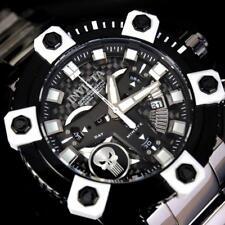 Invicta Grand Octane Marvel Punisher Black Swiss Mvt 63mm High Polish Watch New