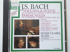 MARIE-CLAIRE ALAIN <>  Bach - Toccata  & Fugue / Passacaglia  <> VG+ (CD)