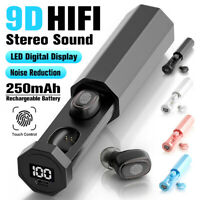 TWS Wireless Bluetooth 5.0 Headphone Smart Touch Earphones 9D Stereo Earbuds Mic