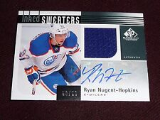 11-12 UD SP Game Used Ryan Nugent-Hopkins Auto RC INKED SWEATERS 50/50 * 1/1 *