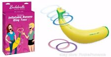 Hilarious Inflatable Banana Hoopla Ring Toss Game Three Coloured Hoops Hen Night