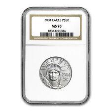 2004 1/2 oz Platinum American Eagle MS-70 NGC - SKU #50381