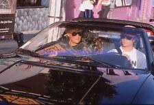 JOHNNY & DAVID HALLYDAY 80s DIAPOSITIVE DE PRESSE ORIGINAL VINTAGE SLIDE #13