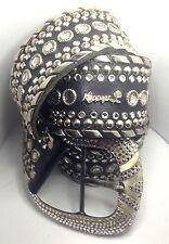 New Kippys Kippy Swarovski Crystal Leather Belt 32