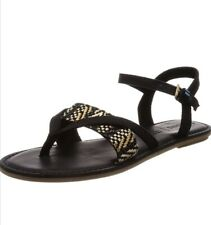 Tom's Lexie Black/ white Strappy Summers Sandals UK Size 7 new