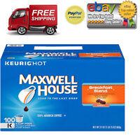 Maxwell House [100 K-Cups] Breakfast Blend Coffee 100% Arabica Coffee 100 ct