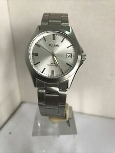 Pulsar Men's Analogue Date Display Stainless Steel Bracelet Watch PXH093X1