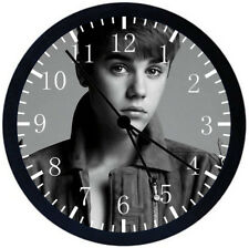 Justin Bieber Black Frame Wall Clock Nice For Gifts or Decor Z35