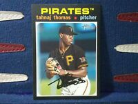 2020 Topps Heritage Minor League #35 Tahnaj Thomas - Bristol Pirates