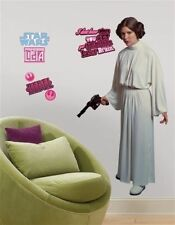 Star Wars classic PRINCESS LEIA wall  decals 54 inches tall decor Carrie Fisher