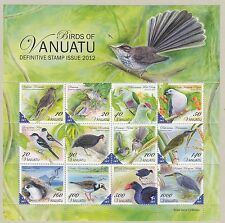 Vanuatu:2012 UCCELLI Definitives in min Sheet sgms1130 never-hinged MINT